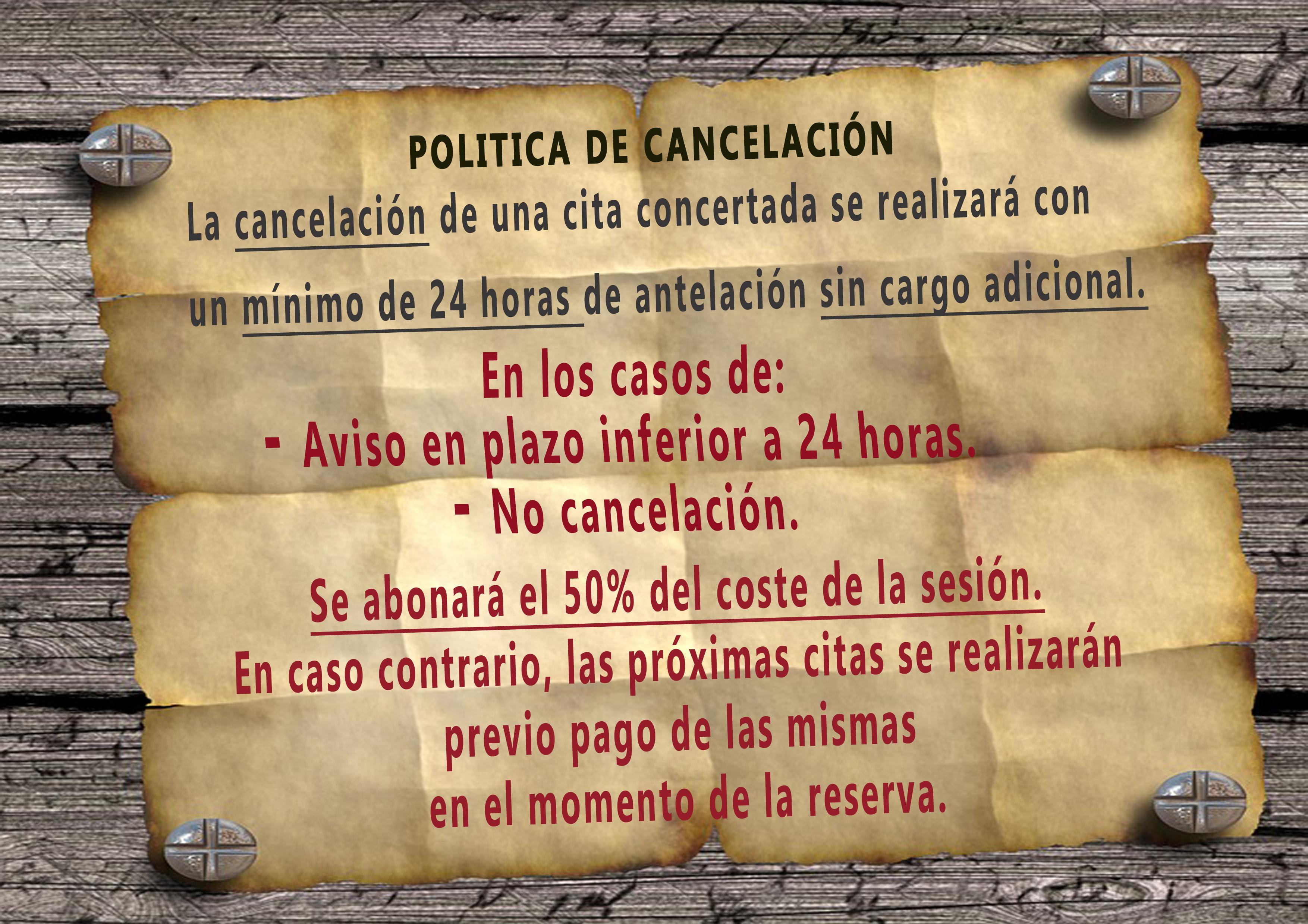 POLITICA DE CANCELACIÓN2020