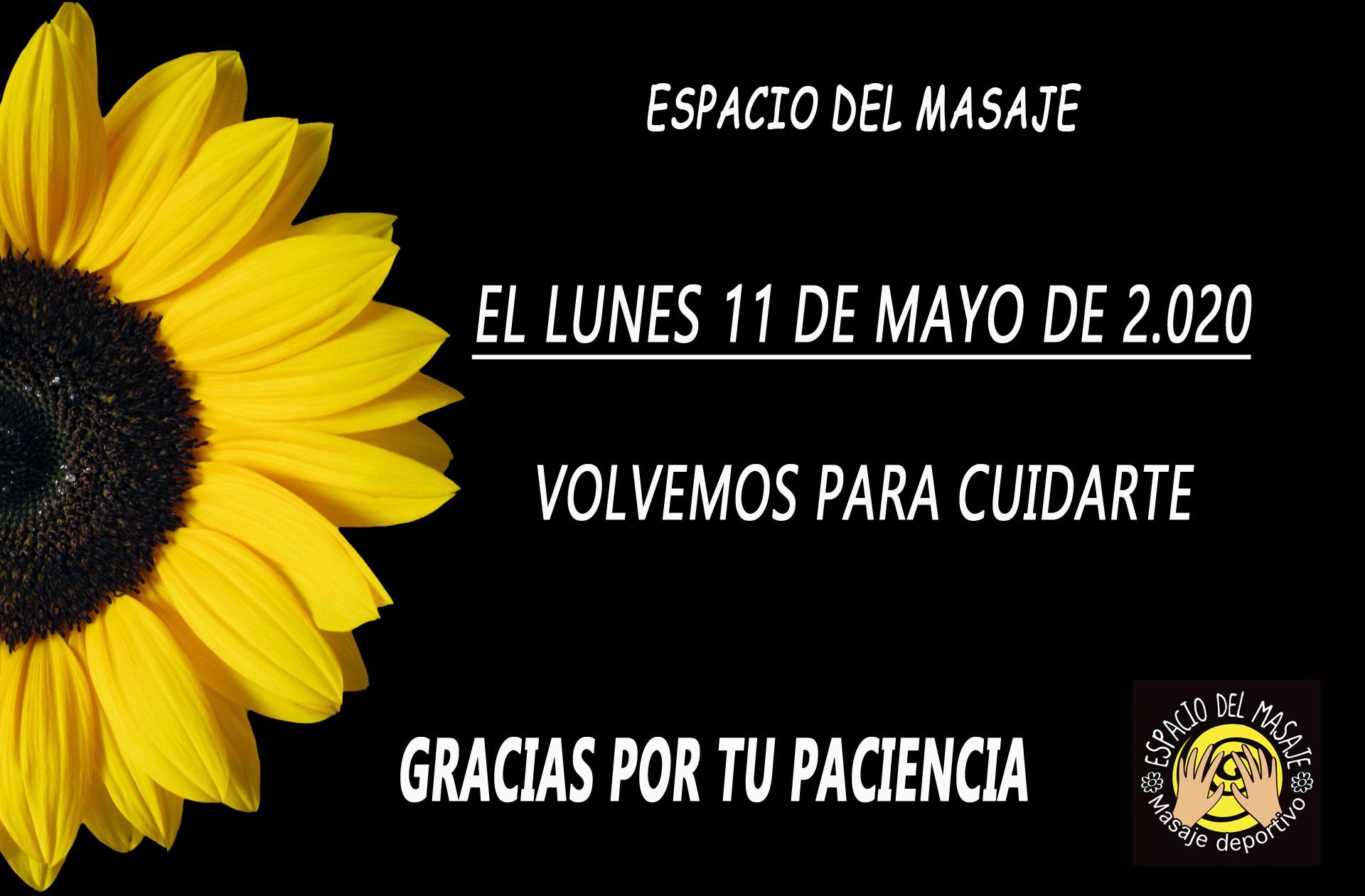 VOLVEMOS EL 11 DE MAYO
